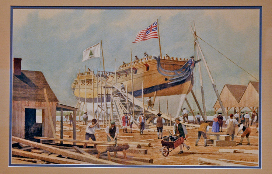 The Continental Frigate Trumbull by artist Victor Mays (1927-2015)